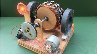 How to Make Free Energy Generator using Powerful DC Motor - Experiment at Homemade
