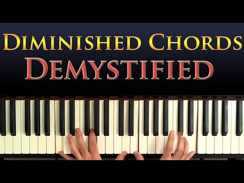 Jazz Piano Harmony - Diminished Chords Explained and Demystified