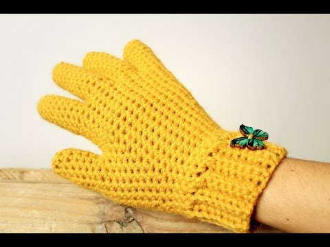 How to crochet GLOVES with fingers ♥ CROCHET LOVERS