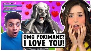 Pokimane Meets her BIGGEST FAN in Fortnite ft. TSM Myth!