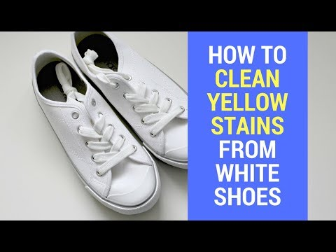 How to Remove Yellow Stains From White Shoes at Home || How to get Yellow Stains out of White Shoes
