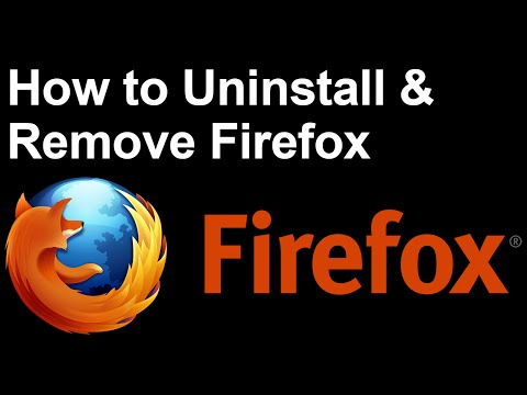 Windows 10 - Uninstall Firefox - Remove Mozilla Firefox Browser