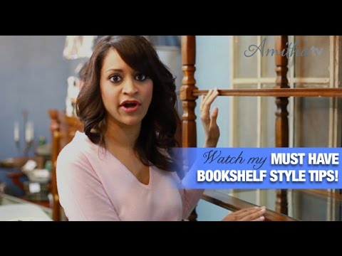 Amitha's Home Décor ideas on how to how to decorate bookshelves!