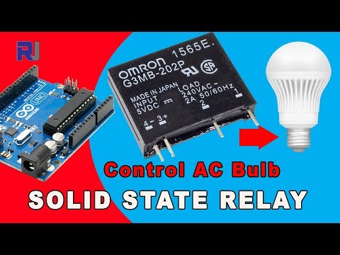 Using Omron G3MB Solid State Relay Control AC Load with and without Arduino