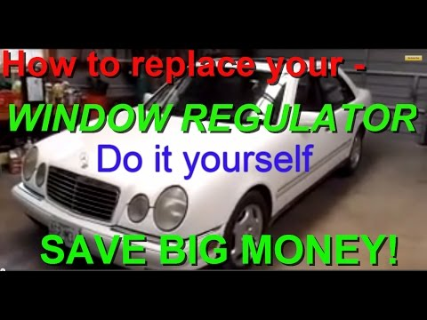 Mercedes window regulator replacement and how to replace the motor as well. E320 W210 W124