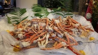 Full Tour of Cafe Sierra - Seafood and Prime Rib Buffet  - Hilton Hotel Universal City