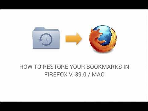 How to restore your bookmarks in Firefox Mac