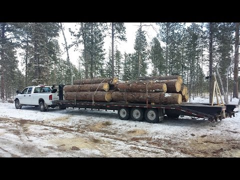 4k HD: Getting started with deck-over trailer logging. Get your own logs; save money.