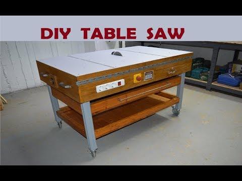 DIY Table Saw - How to Make A Homemade Table Saw