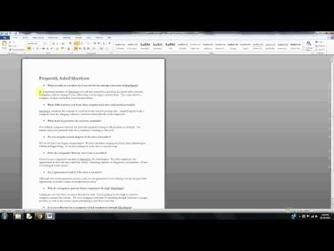 How to Insert Bullet Points in Microsoft Word