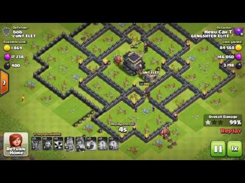 Balloon Minion Attack Strategy Th9 2017 | clash of clans