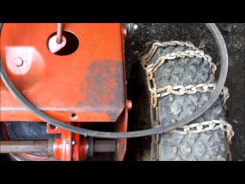 how to put auger belt on a 1984 8hp briggs snapper snowblower