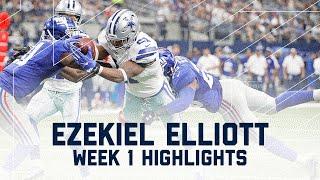 Ezekiel Elliott Highlights | Giants vs. Cowboys | NFL Week 1 Player Highlights