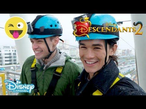 Descendants 2 | Thomas Doherty & Booboo Stewart - Ride Challenge🎢 #3 | Official Disney Channel UK