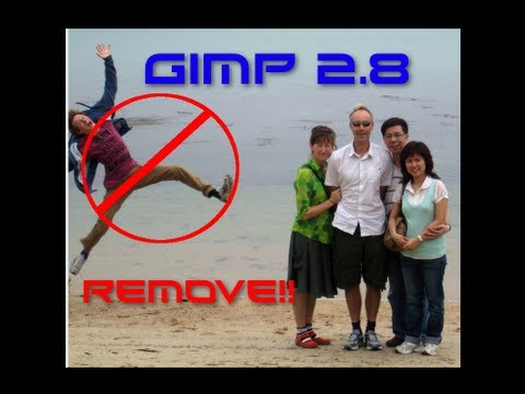 GIMP 2.8 How to Remove People (Install Resynthesizer - Heal Selection) [HD-1080p]