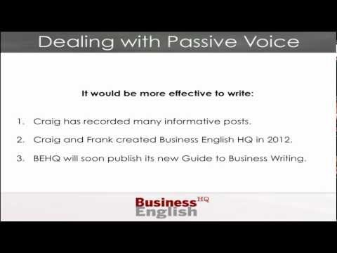 Common Writing Errors - Passive Voice