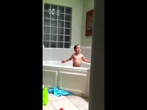 Slippery bath tub time