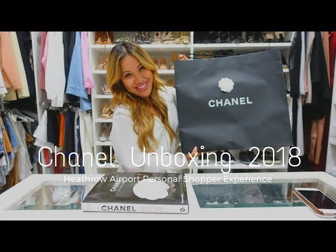Chanel Unboxing 2018, Heathrow Airport Personal Shopper Experience