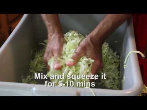 Farmer Dan teaches how to make sauerkraut at home