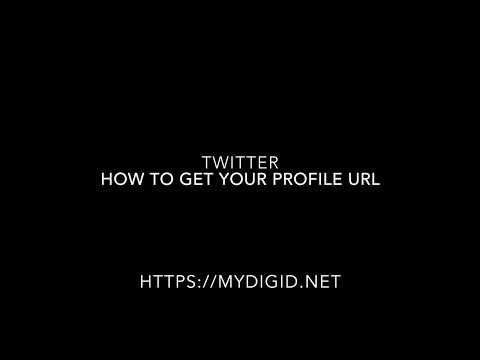 MyDigID - How to get your Twitter profile url