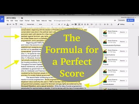 How to Write a Successful DBQ