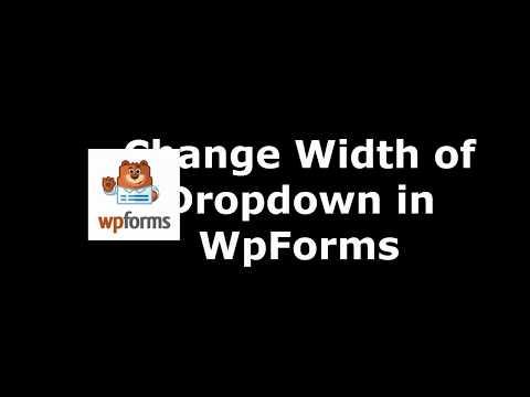 Free WordPress Plugin to Set Drop Down Max Width in WpForms