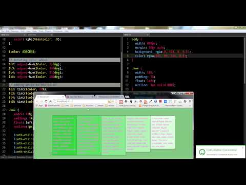 SASS SIMPLIFIED VIDEO 5 - Color Functions