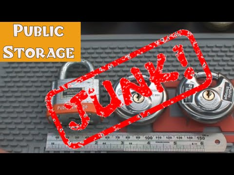 (60) Review: Public Storage Area Padlocks (JUNK!)