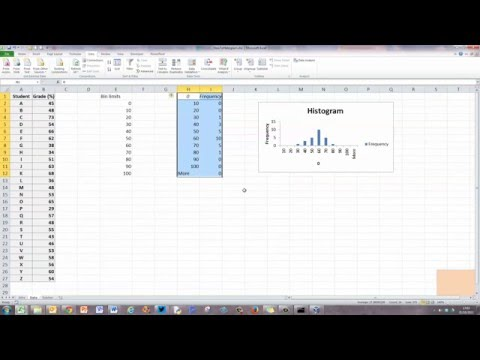 How To... Draw a Simple Histogram Excel 2010