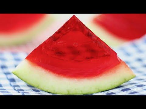 Jello filled Watermelon