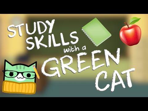 STUDY SKILLS WITH A GREEN CAT | Geometry Dash Juniper