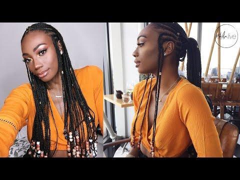 HAIR | FULANI INSPIRED BRAIDS w/ BEADS!