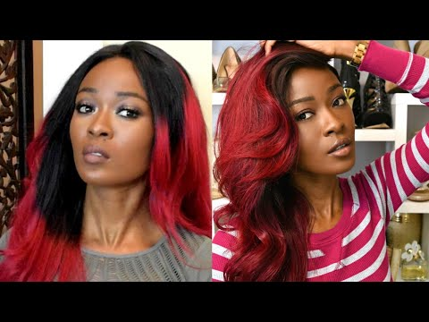 Gorgeous Burgundy Ombre | Fixing A Bad Dye Job | Color Correcting With Wiggins Hair