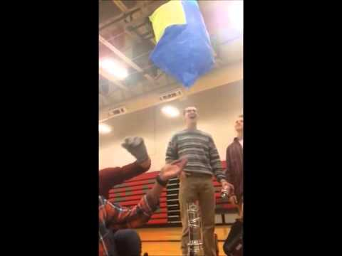 Tissue paper hot air balloon launch