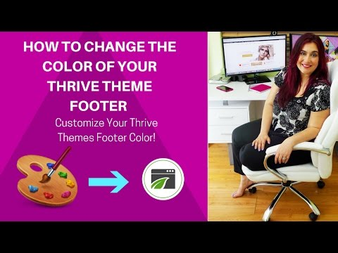 The *SPECIAL CODE* to Help You Change Footer Color in Thrive Themes