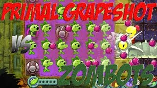 Download Plants vs Zombies 2 Epic Hack : The Primal Grapeshooter vs Each Freakin' Zombots Video