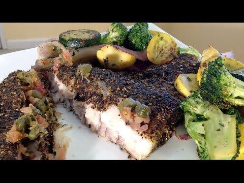 Herb Crusted Pan Fried Corvina Fish-Seafood Recipes