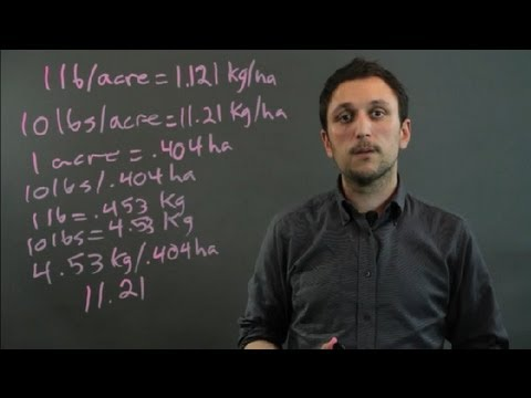 How to Convert Pounds Per Acre to Kilograms Per Hectare : Geometry, Algebra & More