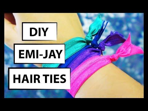DIY ELASTIC HAIR TIES - HOW TO MAKE EMI-JAY HAIR TIES - MUSKA JAHAN