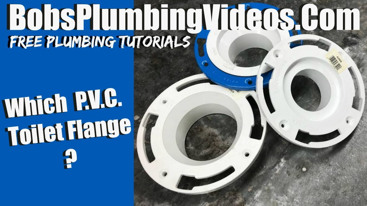 How to Install a P.V.C. Toilet Flange