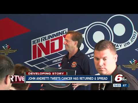 Retired race car driver John Andretti's cancer has returned and spread