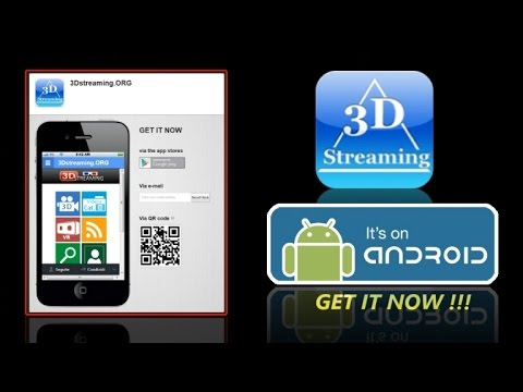 Android APP promo @3Dstreaming