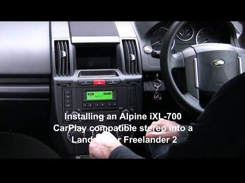 Alpine iLX-700/iLX-007 Apple CarPlay Stereo – installed in Land Rover Freelander 2