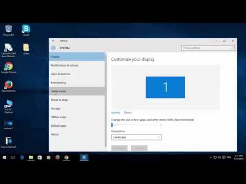 HOW TO SWITCH YOUR LAPTOP TO TABLET MODE ON WINDOWS 10