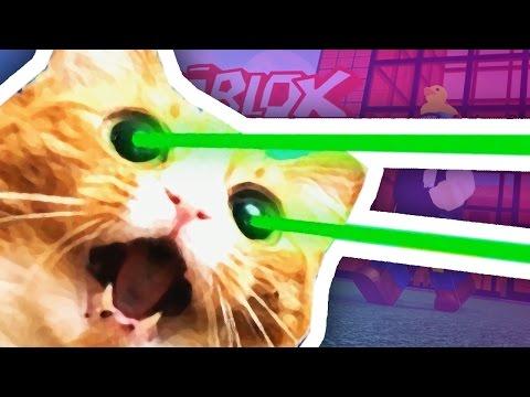 Roblox | GIANT LASER EYES CAT ATTTACK!!