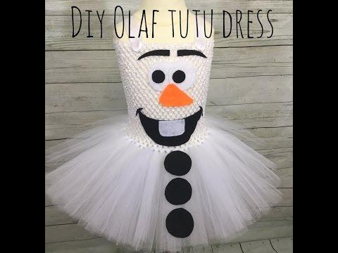 DIY Olaf Costume Tutu Dress