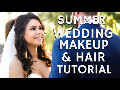 Stunning Bridal Wedding Makeup & Hair Full Glam Tutorial | mathias4makeup