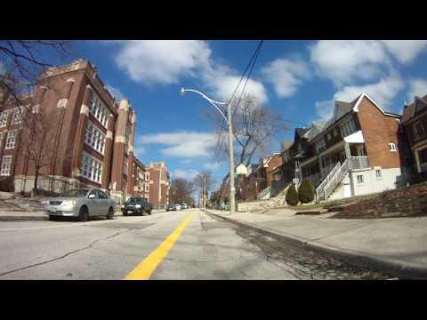 Shaw Street Contra-flow Bikeway - Toronto Cycling Tour