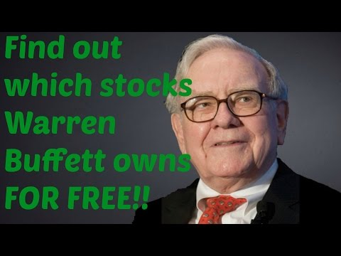 Find out what Warren Buffett owns for free!!!!