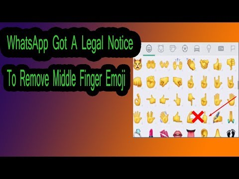 WhatsApp Got A Legal Notice To Remove Middle Finger Emoji